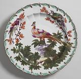 "Fruit or Dessert Plate with ""Disheveled Birds"""