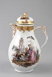 Coffeepot with Chinoiserie Vignettes