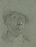 Self-Portrait wearing a Cloth Hat