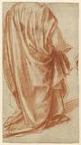 Drapery study (recto); study of a nude Man (verso)