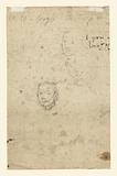 Standing woman holding a Muff, Turned Slightly to the Left (recto); Studies of Heads (verso)