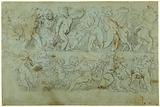 Charity and Studies of Entablatures (recto); Frieze of Putti (verso)