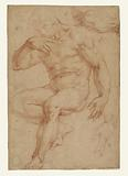 Studies of a Male nude, a Drapery, and a hand