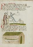 A Cleric Instructing a wolf with a Rod; A snake in a House