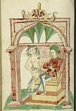 Josaphat Enthroned Tempted by a Naked woman