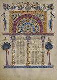 Canon tables from the Zeyt'un Gospels