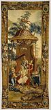 Tapestry: Le Thé de l'impératrice, from L'Histoire de l'empereur de la Chine Series