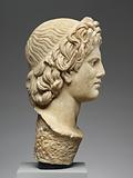 Head of a Satyr worked for insertion into a Statue