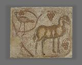 Mosaic fragment with Donkey and bird