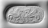 Finger Ring with a Sphinx and Winged Lion
