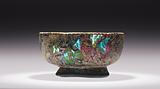 Mosaic Glass Footed Bowl
