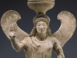 Thymiaterion Supported by a statuette of Nike
