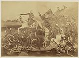 Copy Photograph of a painting by Henry Hope Crealock Depicting a Battle Scene During the Indian Mutiny