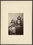 Kiowa Chief, Tomeatho [Trailing the Enemy, Eonah-pah] and Squaw, [Probably the Oldest daughter of Satanta]
