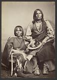 Kiowa Chief Trotting wolf [Gu-ee-ah-pay, Coyote Walking] and Squaw