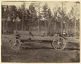 Wagon with Oblong Box Possibly Carrying Guns or Rifles
