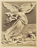 Relief sculpture of winged figure with cornucopia