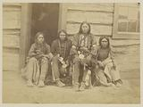 Four Arapahoes, possibly Arapaho Chief Walk-u-betta and Members of his Band
