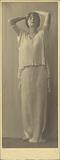 Woman wearing a Fortuny Dress