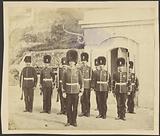 Soldiers in bearskin caps