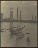 Men in Boats in Harbor
