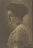 Woman in White Embroidered Dress