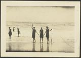 Figures in Bathing Suits at the Beach