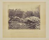 Interior of Breastworks on Round Top, Gettysburg
