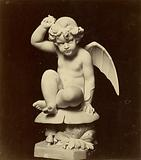 Sculpture of winged child