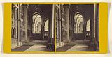 Canterbury Cathedral, view from the South East Transept, Showing the Steps worn by the knees of the Pilgrims visiting …