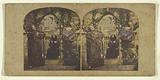 Genre scene: two monks in an archway of a church, both with dramatic faces