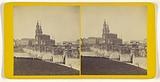 Old bridge & Catholic Hof-Birche. Dresden.