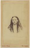 Unidentified woman wearing a veil, printed in vignette-style