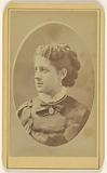 """A young woman named """"Jessie"""", in 3/4 profile, printed in quasi-oval style"""