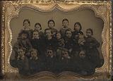 Group portrait of seventeen children