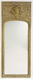 Antique frame with modern mirror glass