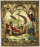 Tapestry: L'Embarquement de l'impératrice, from L'Histoire de l'empereur de la Chine Series