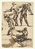 Four Studies of a Male figure