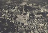 Aerial shot of St Peter's Basilica, the Vatican, Rome