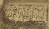 Bas-relief in Marble on Garden wall with Ivy-vine Border