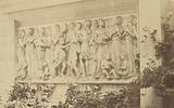 Bas-relief in Marble by Luca della Robbia on Garden wall