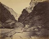 Rocky defile below Ali Musjid, looking upstream