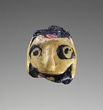Flamed-worked Face bead
