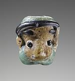 Flamed-worked head bead