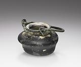 Miniature pot with bronze handle