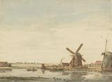 Windmills on a Canal