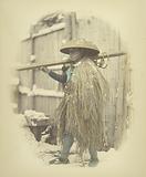Laborer in Grass Cape