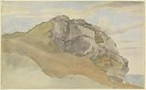 Rocky Outcropping (recto); Rocky Forest with Strollers (verso)