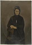 Portrait of woman in bonnet