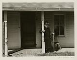 Elderly woman on Porch